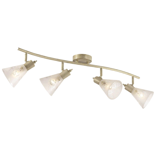 Светильник Favourite Gumbata 1794-4U, E14, 160 Вт, кол-во ламп: 4 шт., цвет арматуры: бежевый, цвет плафона: белый