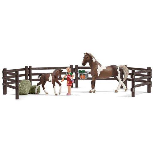 Игровой набор Schleich Кормление лошадей 21049