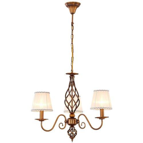 Люстра Citilux Ровена CL427131 бронза мат., E14, 180 Вт, кол-во ламп: 3 шт., цвет арматуры: бронзовый, цвет плафона: бежевый citilux ровена cl427130 180 вт