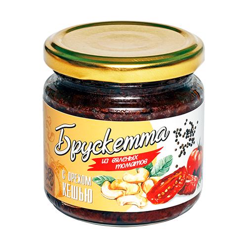 Фото - Брускетта из вяленых томатов с орехом кешью, 190г ECOFOOD tomtom брускетта из вяленых томатов с кедровыми орешками 140 г