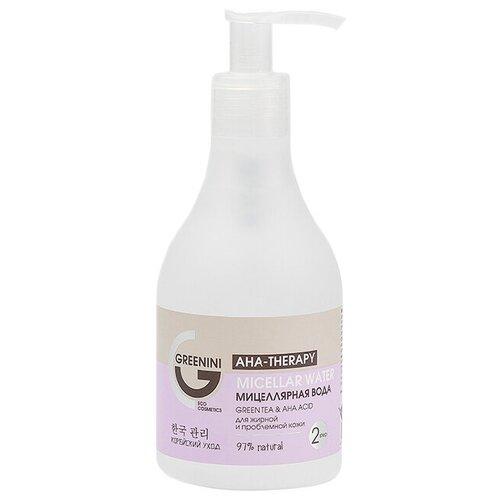 Мицеллярная вода Greenini Aha-Therapy Green Tea & Aha Acid 235 мл