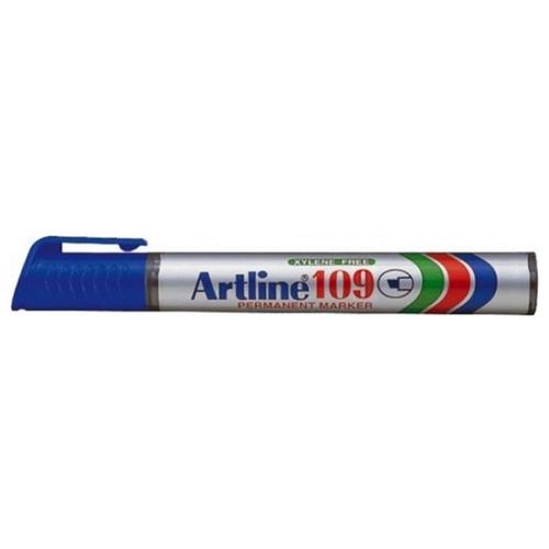 Купить Маркер перманентный, водостойкий с клиновидным наконечником Artline EK109, (2, 0-5, 0 мм) синий, Маркеры