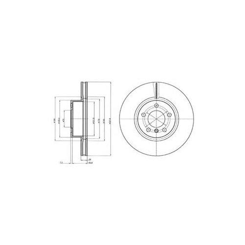 Тормозной диск передний DELPHI BG9108 328x28 для BMW X3, BMW X4