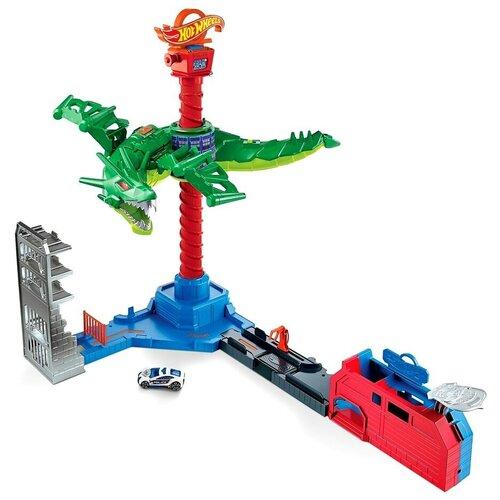 набор игровой mattel hot wheels мертвая петля Игровой набор Mattel Hot Wheels Сити Воздушная атака дракона-робота GJL13