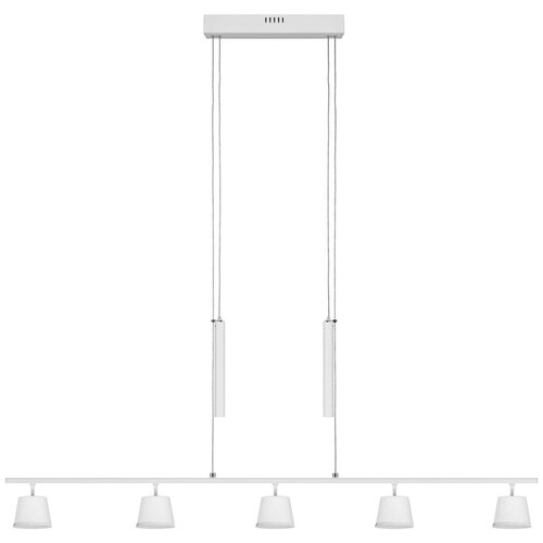 Люстра светодиодная De Markt Гэлэкси 632016505, 30 Вт, цвет арматуры: белый, цвет плафона: белый люстра светодиодная de markt ракурс 8 631014201 led 30 вт
