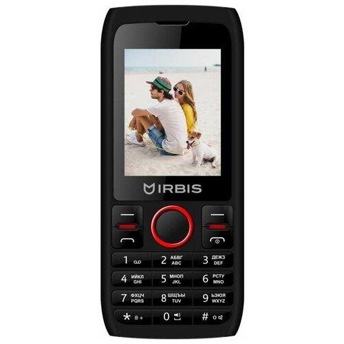 Телефон Irbis SF54R черный/красный