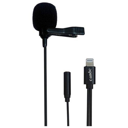 Микрофон-петличка универсальный накамерный Candc DC-C11 с разъемом Lightning для iPhone и iPad, черный