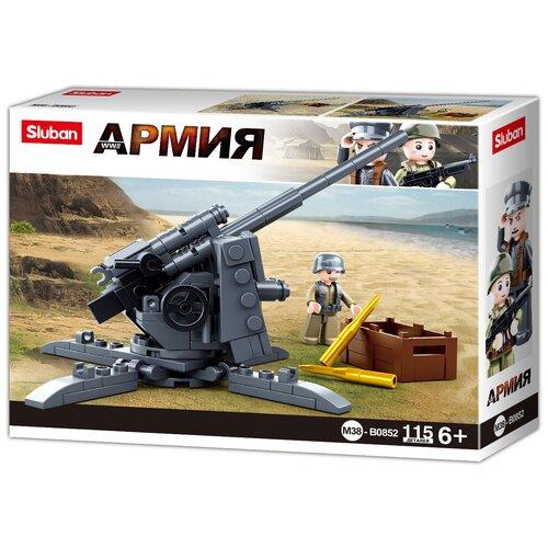 Конструктор SLUBAN WW2 M38-B0852 Противотанковая пушка конструктор sluban ww2 m38 b0682 газ 67