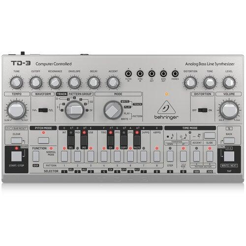Синтезатор BEHRINGER TD-3-SR silver