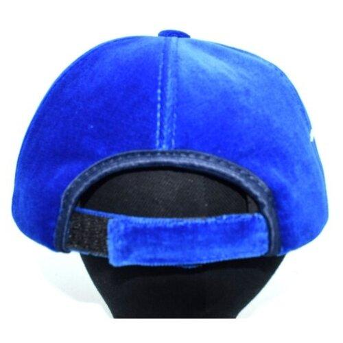 Кепка бейсболка бархатная Grin, ярко синий, женская L