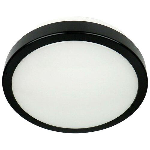 Novotech Уличный настенно-потолочный светильник Opal Led 357513, 24 Вт, цвет арматуры: черный, цвет плафона белый уличный потолочный светильник novotech 357505
