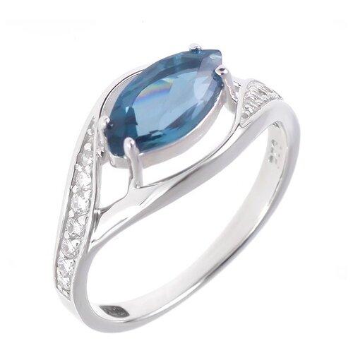 Фото - Balex Кольцо 1405936424 из серебра 925 пробы с топазом Лондон и фианитом, размер 17 element47 кольцо из серебра 925 пробы с топазами лондон r32560h 7 ko lt wg размер 17 25