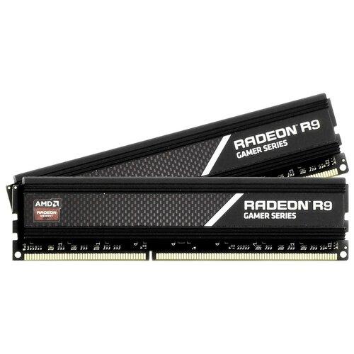 Оперативная память AMD Radeon R9 Gaming Series 16GB (8GBx2) DDR4 3200MHz DIMM 288-pin CL16 R9S416G3206U2K