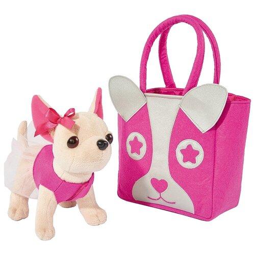 Мягкая игрушка Simba Chi chi love Чихуахуа с розовой сумкой 20 см