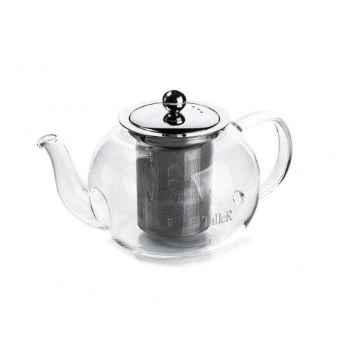Чайник заварочный TalleR TR-31372, 1250 мл, термостойкое боросиликатное стекло 1360 tr чайник заварочный taller 600 мл