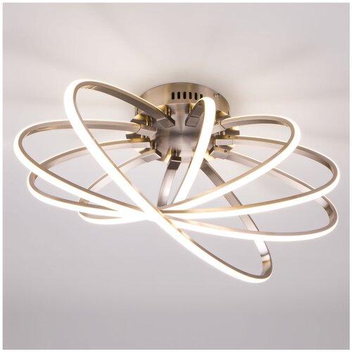 Фото - Светильник светодиодный Eurosvet Evia 90100/5 сатин-никель, LED, 95 Вт светильник eurosvet потолочный светодиодный 90177 3 сатин никель