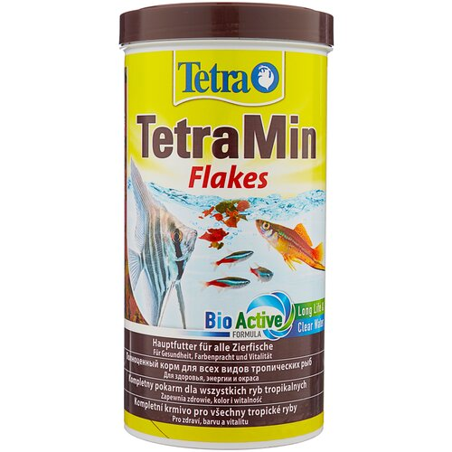 Фото - Сухой корм для рыб Tetra TetraMin flakes 1000 мл сухой корм для рыб tetra tetramin xl flakes 1000 мл