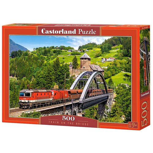 Купить Пазл Castorland Train on the Bridge (B-52462), 500 дет., Пазлы