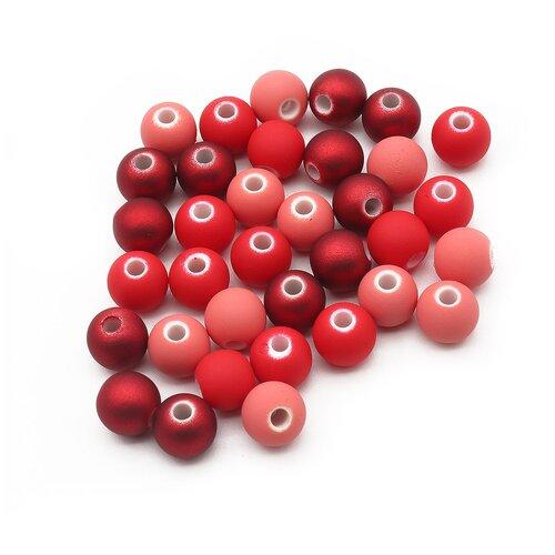 Купить Набор матовых бусин 8мм, 20гр*3упак, оттенки красного, Astra & Craft, Наборы для создания украшений