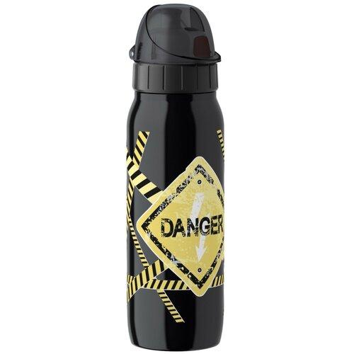 Термос-фляга EMSA ISO2GO Опасность, 0.5 л черный