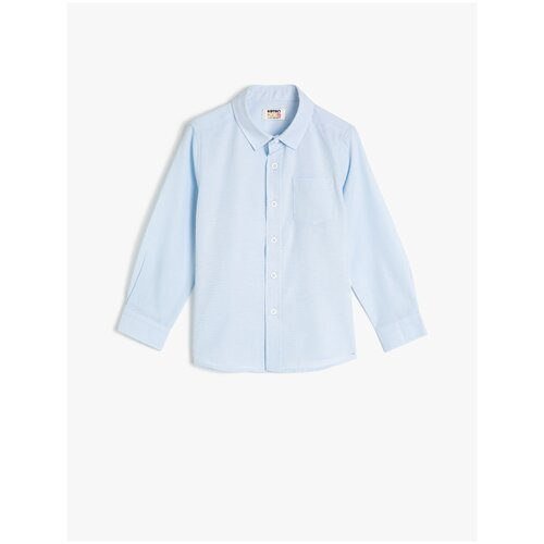 Рубашка KOTON размер 4-5 лет (104-110), голубой