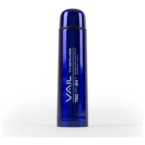 Термос VAIL VL-7005 узкое горло 0,75 л. Синий