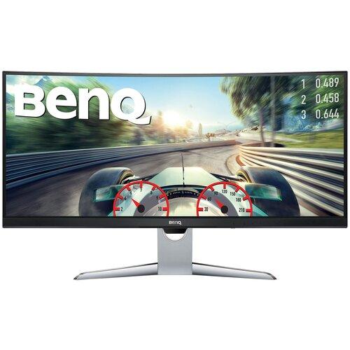 Монитор BenQ EX3501R 35, черный/серебристый монитор benq el2870ue 27 9 серебристый [9h lgtlb fse]