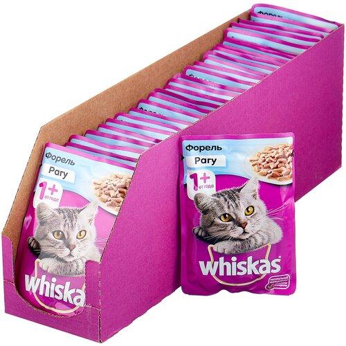 Фото - Влажный корм для кошек Whiskas с форелью 28 шт. х 85 г (кусочки в соусе) влажный корм для кошек animonda rafine 24шт х 100 г кусочки в соусе