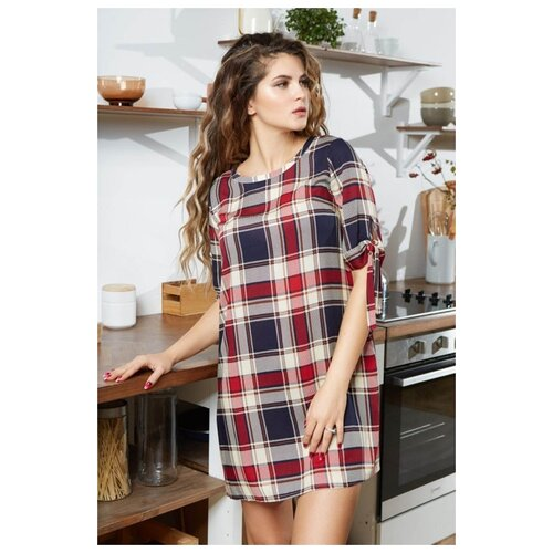 Платье Mia-Mia размер M(46) красный/синий платье oodji ultra цвет красный белый 14001071 13 46148 4512s размер xs 42 170