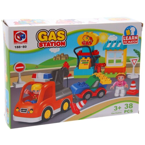 Конструктор Kids home toys Gas Station 188-80 конструктор kids home toys happy farm 188 133