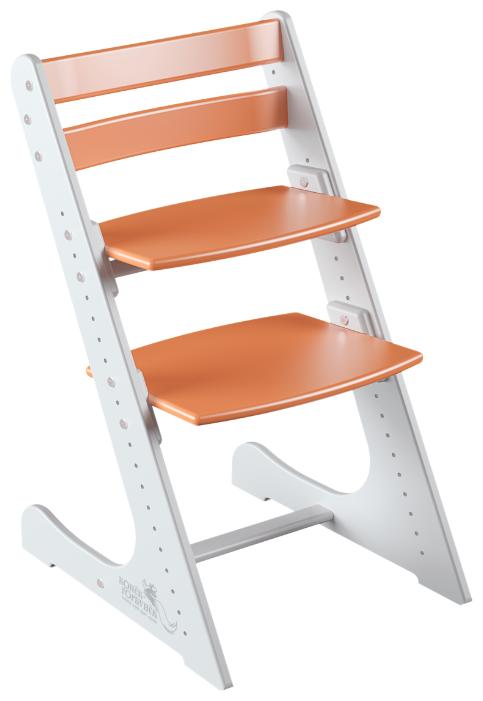 Купить Растущий стульчик Конек Горбунёк Комфорт, бело-оранжевый по низкой цене с доставкой из Яндекс.Маркета