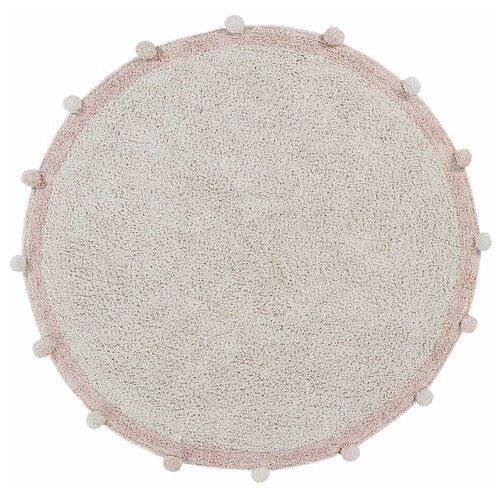 Фото - Ковер Lorena Canals с помпонами, диаметр: 1.2 м, винтажный нюдовый ковры lorena canals ковер с помпонами 120d