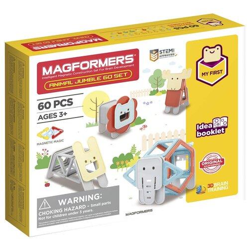 Фото - Конструктор Magformers My First 702015-60 Веселые зверюшки конструктор magformers my first 63144 желтый багги