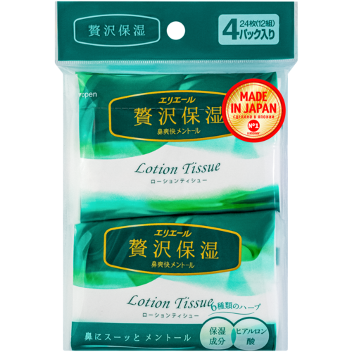Платочки Elleair Lotion Tissue Menthol, 48 шт.