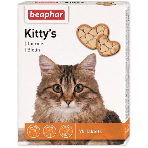 Фото - Добавка в корм Beaphar Kitty's Taurine + Biotin 75 таб. добавка в корм beaphar salvikal