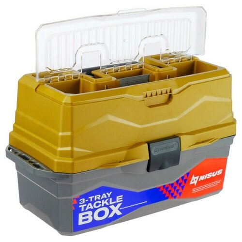 Ящик для рыбалки Nisus N-TB-3 44.5х25х22 см золотой