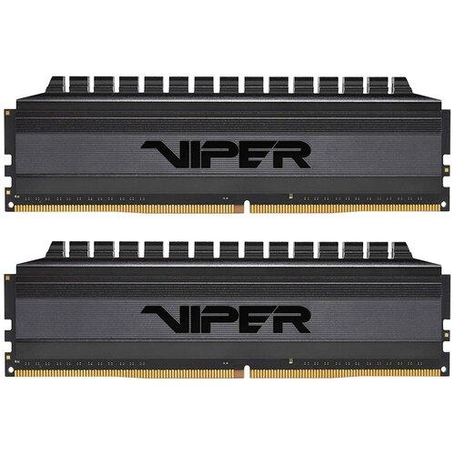 Фото - Оперативная память Patriot Memory VIPER 4 BLACKOUT 16GB (8GBx2) DDR4 4133MHz DIMM 288-pin CL18 PVB416G413C8K оперативная память patriot memory viper rgb 16gb 8gbx2 ddr4 4133mhz dimm 288 pin cl19 pvr416g413c9k
