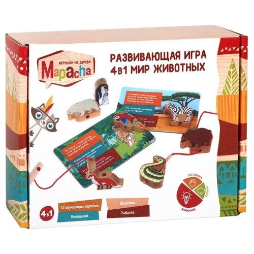 Купить Настольная игра Mapacha Мир животных 4 в 1, Настольные игры