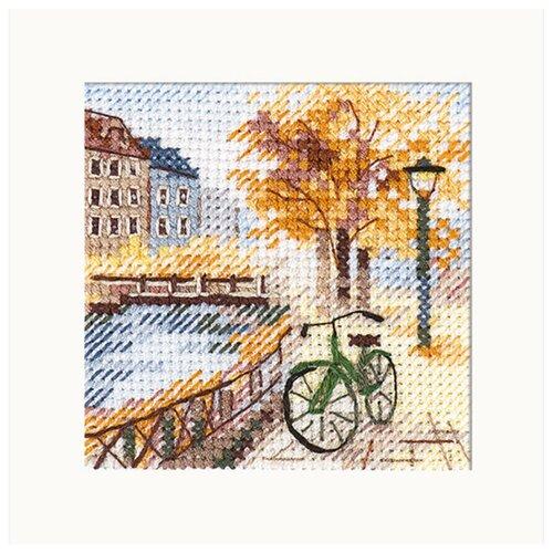 Купить 0-219 Набор для вышивания АЛИСА 'Осень в городе. Набережная' 7x7см, Алиса, Наборы для вышивания