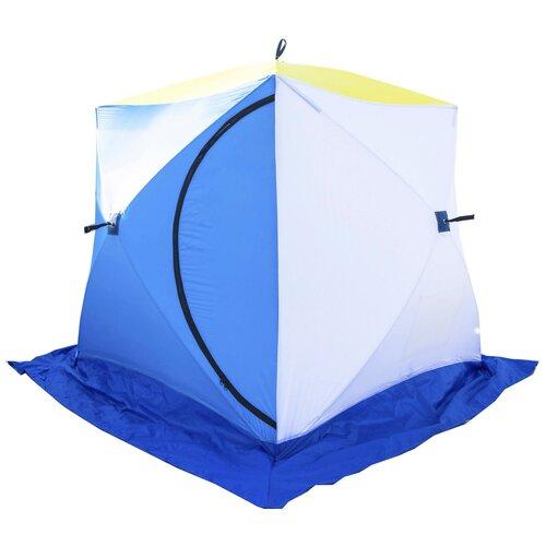 Фото - Палатка СТЭК Куб 2 трехслойная синий/желтый палатка jian hong замок принца 200280835 синий желтый