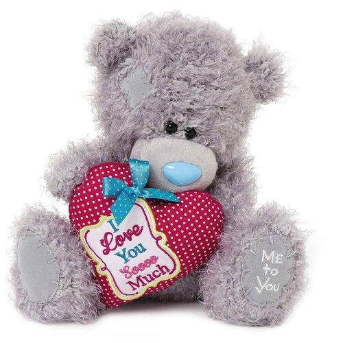 Мягкая игрушка Me to you Мишка Тедди с сердцем I love you soooo much 20 см
