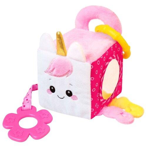 Развивающая игрушка Мякиши Единорог Лайк 631, розовый/белый