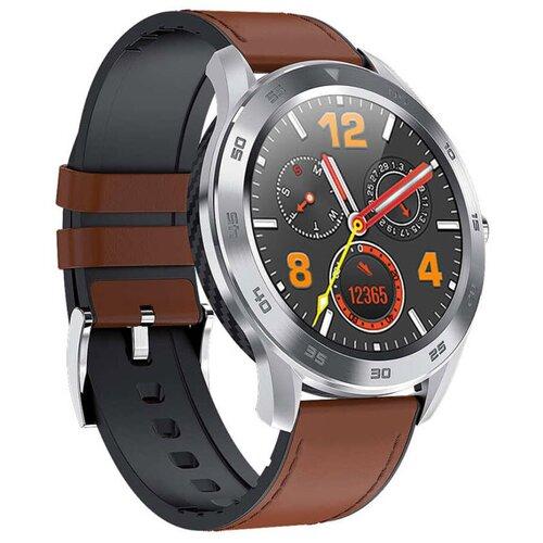 Умные часы GARSline DT98 (экокожа), коричневый