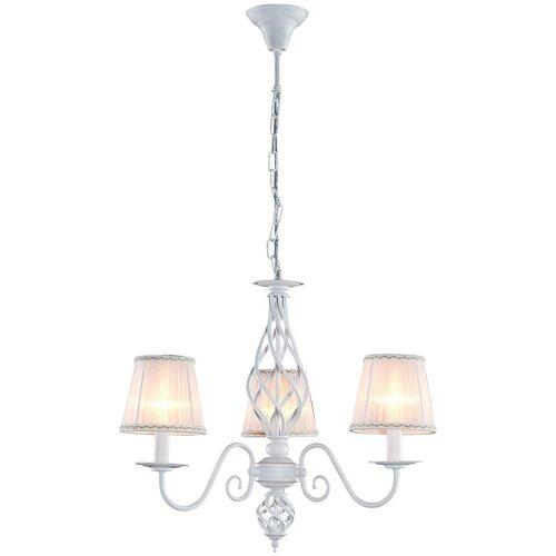 Люстра Citilux Ровена CL427130, E14, 180 Вт, кол-во ламп: 3 шт., цвет арматуры: белый, цвет плафона: белый citilux ровена cl427130 180 вт