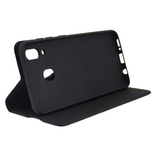 Защитный чехол-книжка для Samsung Galaxy A20S / на Самсунг А20s / Черный