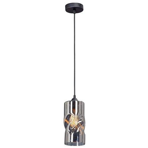 Фото - Светильник Vitaluce V4853-1/1S, E27, 40 Вт, кол-во ламп: 1 шт., цвет арматуры: черный, цвет плафона: серый светильник vitaluce v4849 1 1s e27 40 вт