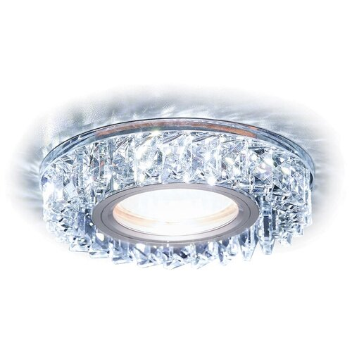 Фото - Встраиваемый светильник Ambrella light S255 CH хром/прозрачный хрусталь/MR16+3W (Led White) встраиваемый светильник ambrella light s288 ch хром прозрачный