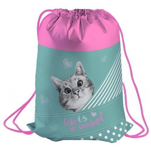 Berlingo Мешок для обуви Curious Cat (MS09245) розовый/голубой