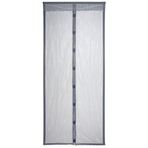 Сетка Help Boyscout дверная с магнитным замком противомоскитная с крепежной лентой 45х210 см, серый сетка противомоскитная для окон help 130х150 см