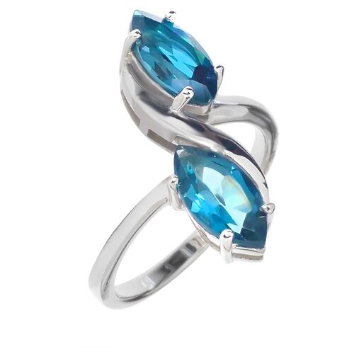 Фото - Balex Кольцо 1405936292 из серебра 925 пробы с топазом Лондон, размер 16.5 element47 кольцо из серебра 925 пробы с топазами лондон r32560h 7 ko lt wg размер 17 25